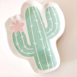 Ceramic Cactus Desert Jewelry Plate